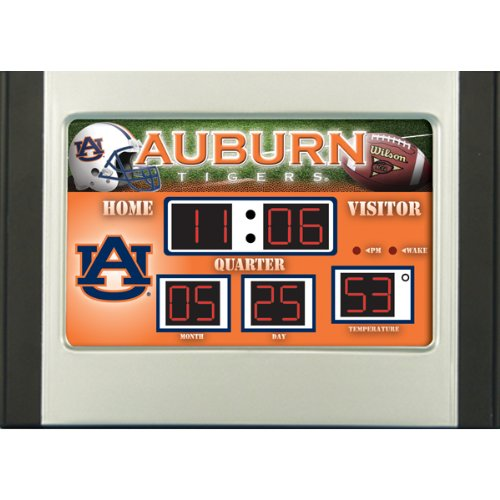 Sports Team Collegiate Scoreboard (Auburn Tigers Scoreboard Desk Clock)
