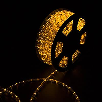 Sliverylake 30M 100FT 1080 LEDS Rope Light Home In/Outdoor Christmas Decorative Party Lighting (yellow)