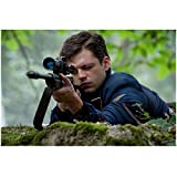 Sebastian Stan (8 inch by 10 inch) PHOTOGRAPH Marvel as Bucky Barnes Behind Rifle kn