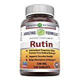 Amazing Formulas Rutin – 500mg, 100 Tablets – Antioxidant Properties – Helps Absorption of Vitamin C – Supports Vascular Health* For Sale