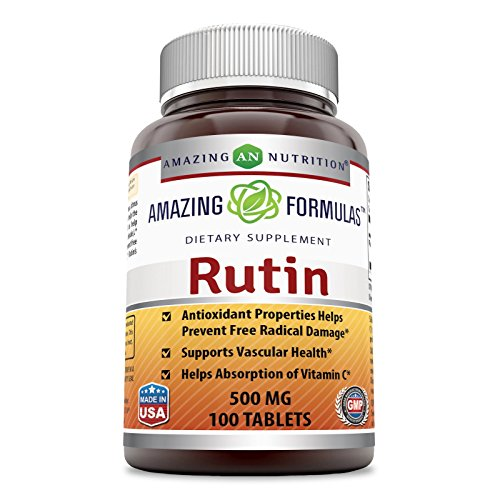 Amazing Formulas Rutin - 500mg, 100 Tablets - Antioxidant Properties - Helps Absorption of Vitamin C - Supports Vascular Health*