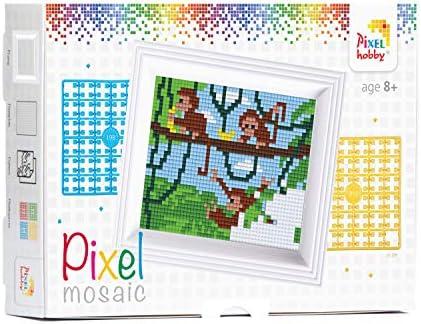 Pixel P31036 Mosaik Geschenkverpackung Eisb/är Pixelbild mit Rahmen zum Gestalten f/ür Kinder und Erwachsene