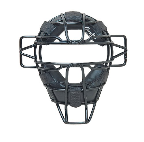 Champion Sports Youth Catcher's Mask: Lightweight Kids Catcher Face Mask Shield with Strap, Padding and Throat Guard for Baseball or Softball - Black