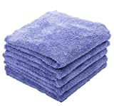 THE RAG COMPANY (5-Pack) EAGLE EDGELESS 350 Professional Korean 70/30 Super Plush 350gsm Microfiber Detailing Towels (16x16, Lavender)