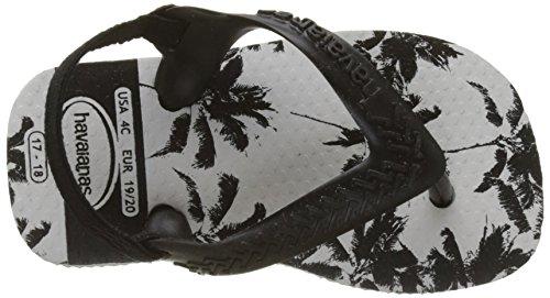 black white Sandali Chic Bianco Havaianas Ii Bambina black 76xYwO