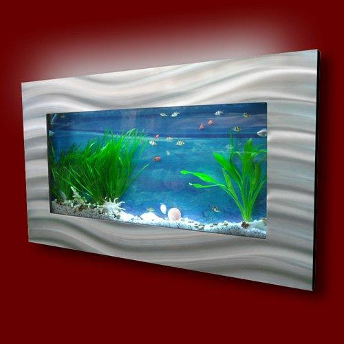 Aussie Aquariums Wall Mounted Aquarium Skyline Silver