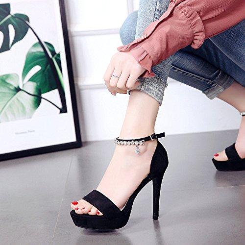 HBDLH Damenschuhe 12Cm High Heels Wasserdicht Tabelle Sandalen Ein Ein Ein Paar von Den Schuhen Sommer Sexy. 93402a