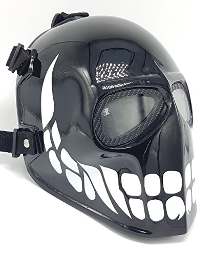 [Invader King Black Smiley Airsoft Mask Paintball Protective Gear Outdoor Sport Fancy Party Ghost Masks Bb] (Deathstroke The Terminator Costume)