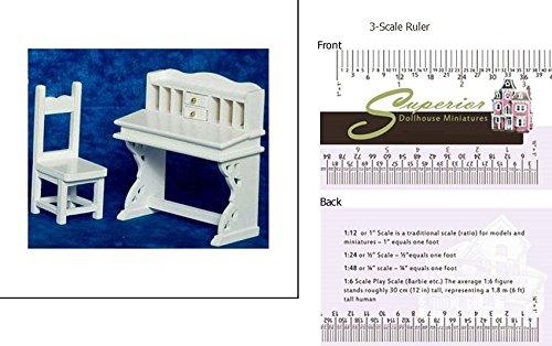 Dollhouse Desk /& Chair Set White Aztec Imports 2
