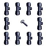 1/4'' Slip-Lok Misting Nozzle Tees W/ Plug for Patio Cooling System 10/24 UNC
