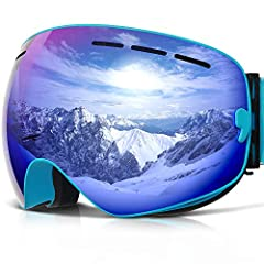 BrandCOPOZZ Ski Goggles perfectly attach onto face and windproof. The lens is made of imported anti-fog lens which through strengthening and coating treatment,surface with anti-scratch,anti-shock and wear-resistant,100% anti UV, protect your ...