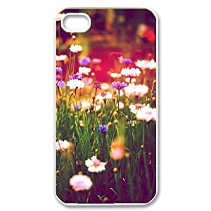Iphone 4,4S Popular Flower Phone Back Case Personalized Art Print Design Hard Shell Protection MN034089