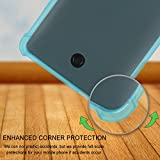 BLU R1 HD CASE with Enhanced Corner Protection, [2 PACK] Shalwinn Transparent Shockproof TPU Cover Case For BLU R1 HD (Blue+Clear)