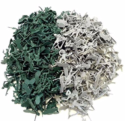 72 pc - Army Men Toy Soldiers Military Gray Green Plastic Figurine from Unbranded