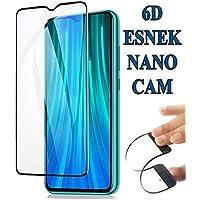 Redmi Note 8 Pro 6D Nano Kırılmaz Cam Ekran Koruyucu Plastik ve Cam Karışımı