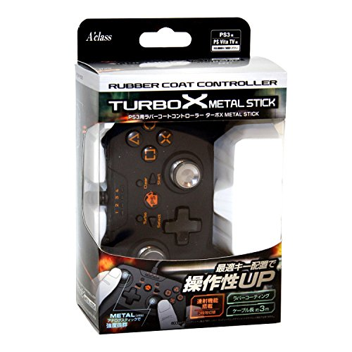 Rubber Coating Controller Turbo X Metal Stick for Ps3 (Playstation 3 Controller Turbo)