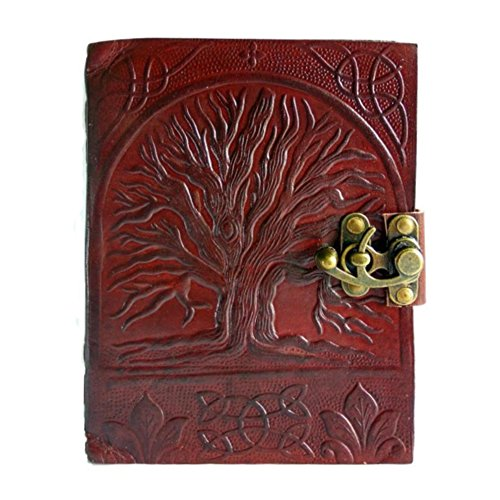 Rayite Tree Of Life Vintage Antique Looking Genuine Handmade Leather Journal Diary Notebook Gift for Men Women Him Her 7X5 Inches