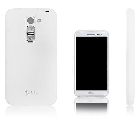Xcessor Vapour Funda Carcasa de TPU Gel Flexible Para LG G2 mini. Opaco Blanco / Semitransparente