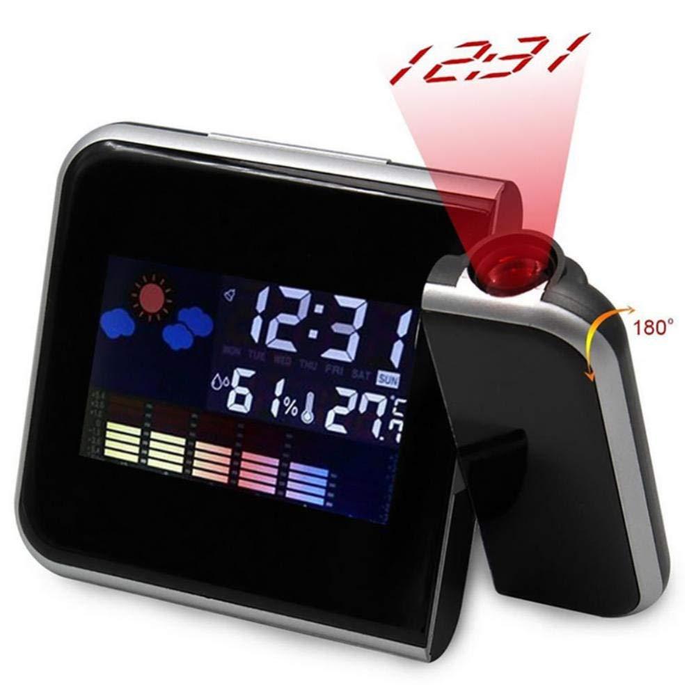 Despertador Proyector Techo Tabla Reloj Led Proyección Reloj ...