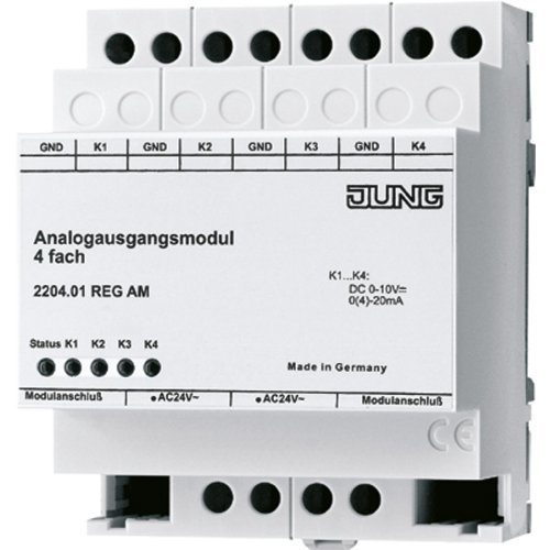 Analogue Output - Jung 2204.01REGAM KNX Analogue Output module 4-Channel by Jung