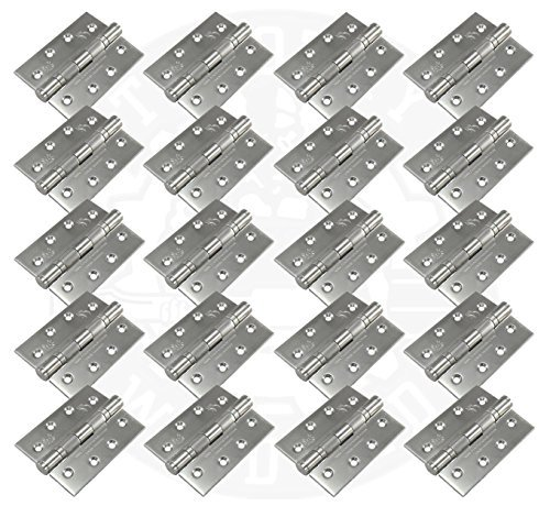 10 Pairs of 4 102mm Fire Rated Ball Bearing Door Butt Hinges Grade 13 Stainless by Timothy Wood Limited