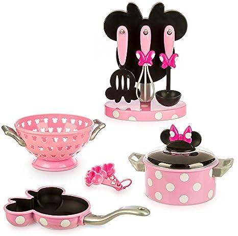 Disney Store Set de Juegos Accesorios para Cocina Minnie Topolina cuccinare: Amazon.es: Juguetes y juegos