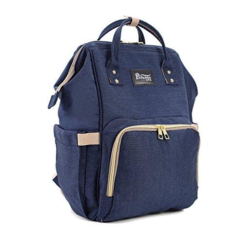 Cornasee extragrande cambiar pañales mochila bolsa impermeable hombro bolsas para viajar y uso diario, gris azul marino