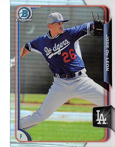 Jose Deleon Baseball Card La Dodgers Now Tb Rays 2015