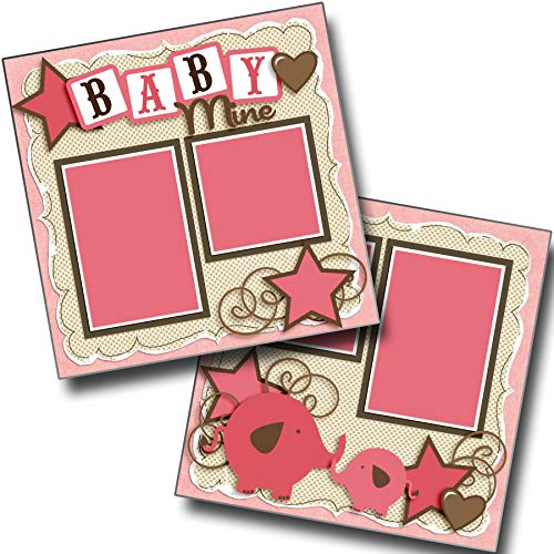 Baby Mine Girl - Premade Scrapbook Pages - EZ Layout 4042 ()