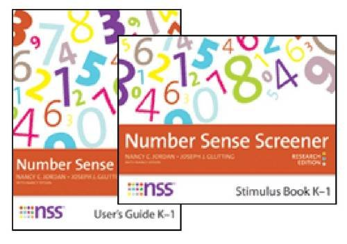 Number Sense Screener™ (NSS™) Quick Script, K–1, Research Edition