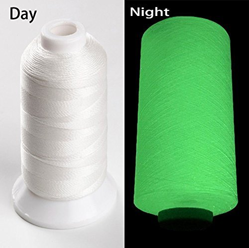 YEHAM 3000Yards/2700M Glow in The Dark Embroidery Thread (White) YM 4337015939
