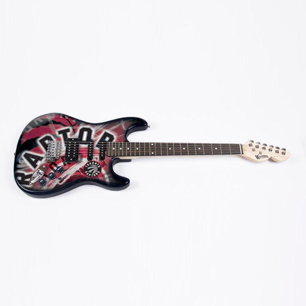 NBA Toronto Raptors NorthEnder Guitar, 39-Inch x 13-Inch, Maple