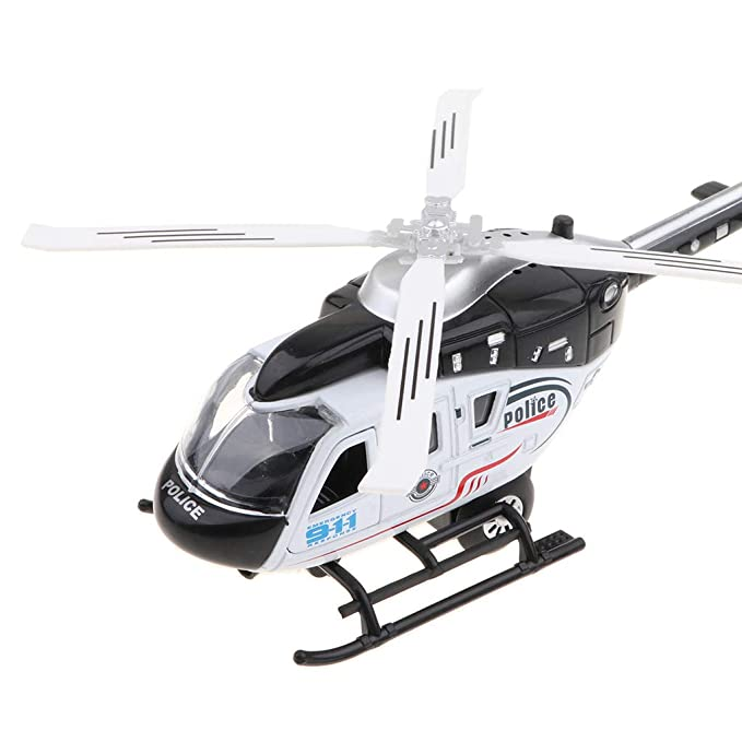 Prettyia Sound Light Helicopter Model Child Aircraft Electric Toy Black