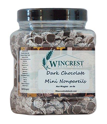 Chocolate Nonpareils - 1.25 Lb (20 Oz) Tub (Mini Dark Nonpareils)