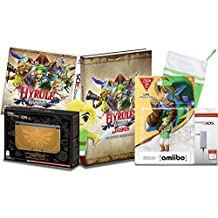 The Secret Santa Legend of Zelda Hyrule Gold 3DS XL with Hyrule Warriors Legends Game & CE Guide, Ocarina of Time Link Amiibo Christmas Collection