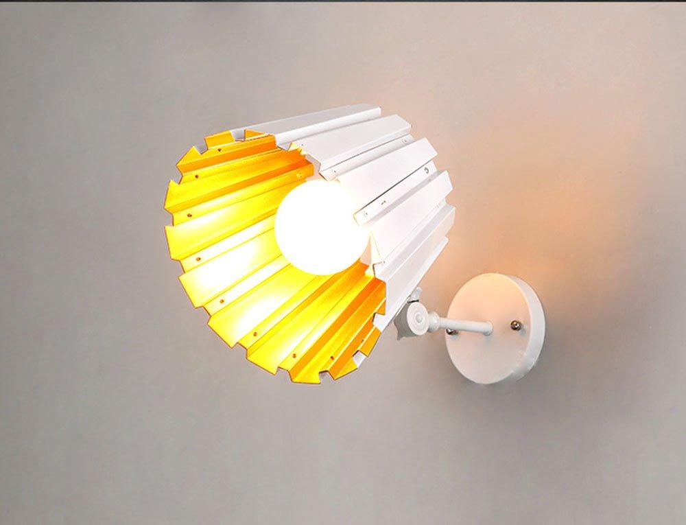 MMM- Post-Modern Style Iron LampenKörper Aluminium Lampenschirm E27 Teleskopstange Wandleuchte ( Farbe   Weiß )