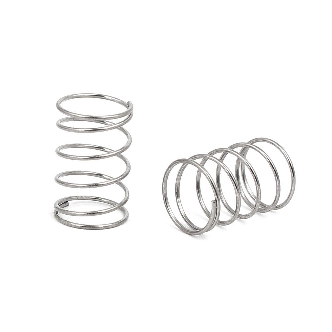 sourcingmap 0.6mmx10mmx15mm 304 Stainless Steel Compression Springs Silver Tone 10pcs