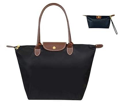 ccbdec67ab Fashion women Foldable WaterProof Tote bag Handbag long handle shoulder bag  shopping bag school bag daily