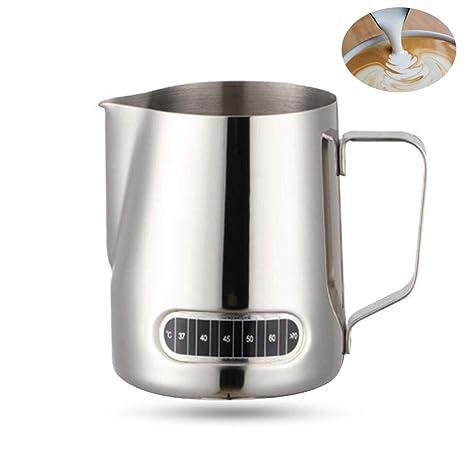 Umiwe Jarritas para la Leche Batidoras espumadoras de Leche café Latte Art Acero Inoxidable 600ml con