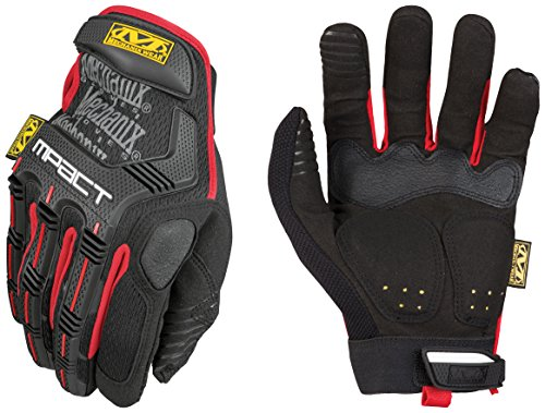 Black And Red Gloves (Mechanix Wear - M-Pact Gloves (Small, Black/Red))