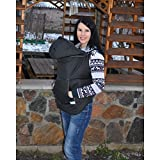 Winter Babycarrier Cover Black, Babywearing Coat Extender, Baby Carrier Cover, Toddler Carrier Cover, Baby wrap Cover