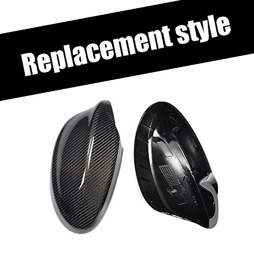 Carbon Fiber Side Rear view Mirror Covers Caps for BMW 3 Series E90 Sedan 318i 320i 325i 328i 330i 335i xDrive 05-08 Not M3