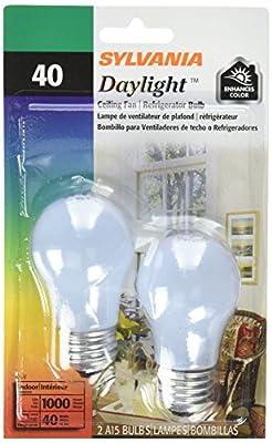 SYLVANIA Home Lighting 10181 Incandesent Bulb, A15-40W-2850K, Medium Base