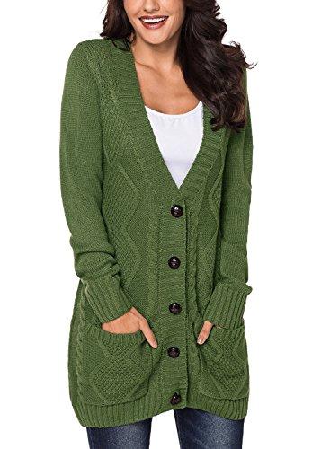 Z Cárdigan Mujer Para green Fiyote FRa7Owax