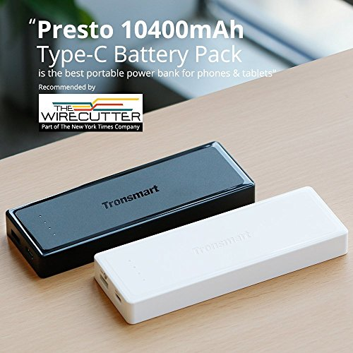 Tronsmart vitality Bank Presto 10400mAh transportable Charger External Battery for iPhone iPad Google Pixel and extra Black Wall Chargers