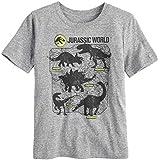 Jumping Beans Boys 4-10 Jurassic World: Fallen Kingdom Dinosaur Graphic Tee 4 Charcoal Snow