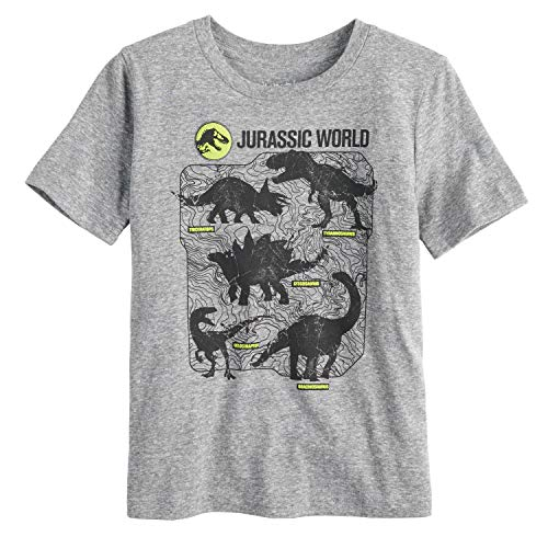 Jumping Beans Boys 4-10 Jurassic World: Fallen Kingdom Dinosaur Graphic Tee 6 Charcoal ()