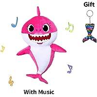 Singing Shark PlushToys, Baby Shark Singing Plush Stuffed Animal Doll, Singing Animal Toys for Babies Toddlers Boys Girls Pet Hugging Pillow Cushion Kids Gift Birthday Present (Pink)