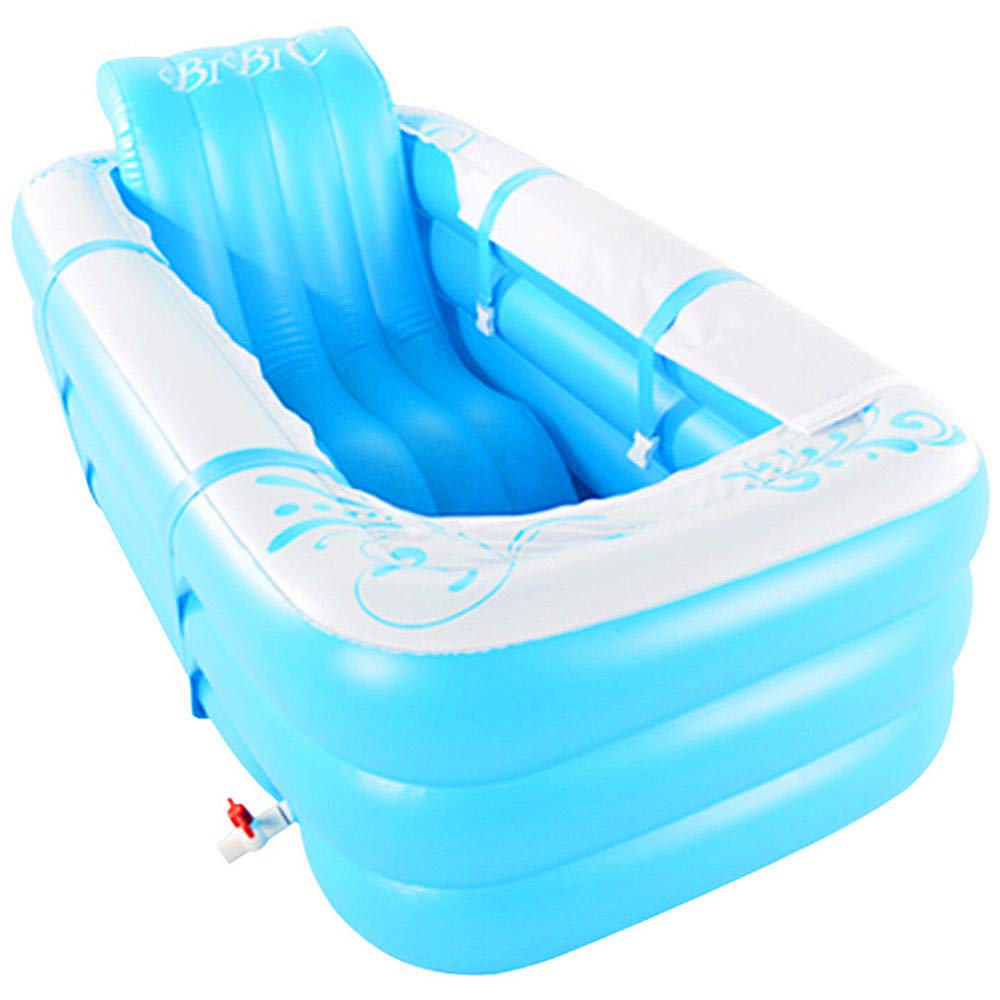 Inflatable Bathtub, Thickening Tub, Folding Bucket Basin, Plastic Bath Tub Size 165 * 80 * 60Cm