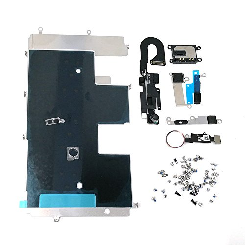 E-REPAIR Screen Assembly Metal Bracket Front Camera Flex Cable Small Parts Set Replacement For iPhone 8 (4.7 inch) (Gold)